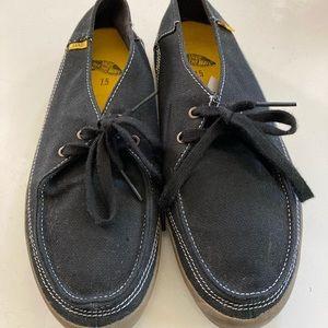 VANS Canvas Boat Style Shoes Black Men's 7.5 W8.5